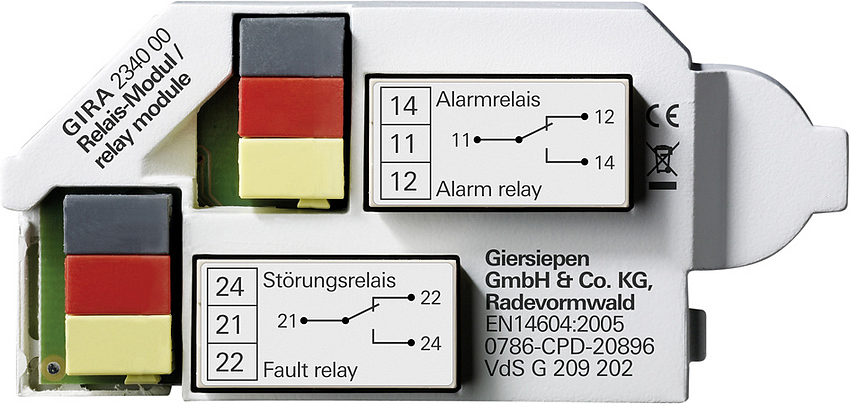 gira relaismodul rwm dual vds rauchmelder 234000 easyelektro. Black Bedroom Furniture Sets. Home Design Ideas